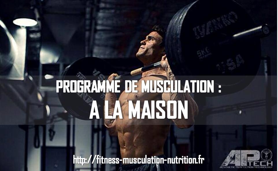 Programme de musculation maison - Gym a la maison ...