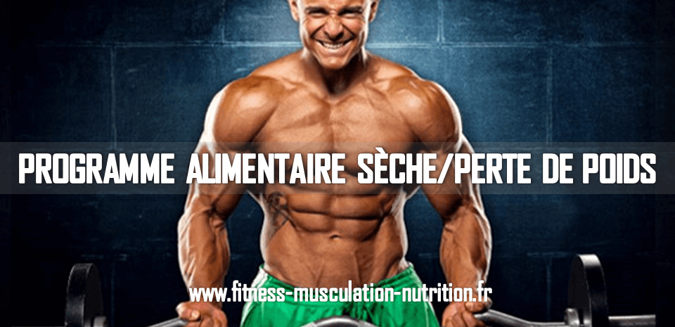 programme alimentaire seche fitness musculation nutrition. Black Bedroom Furniture Sets. Home Design Ideas